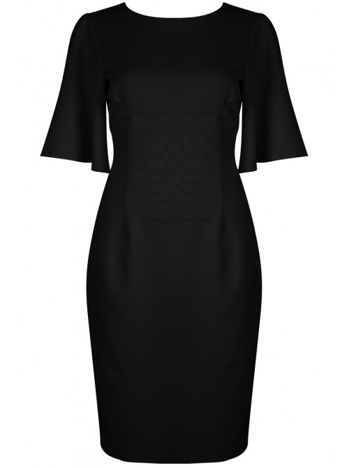 Charlene Bell Sleeves Cut Back Bodycon Dress