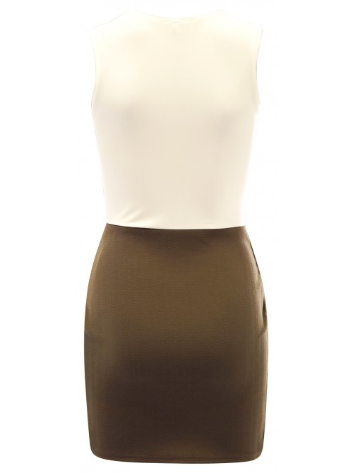 Sleeveless Asymmetric Bodycon Dress | Free Delivery to UK and Ireland