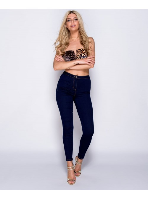 Indigo High Waisted Navy Skinny Jeans