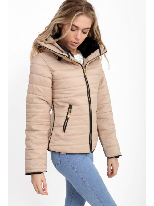 Kellie Stone Plus Size Quilted Padded Puffer Bubble Jacket
