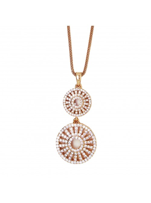 Matisse Aimee Rose Gold double circle Pendant
