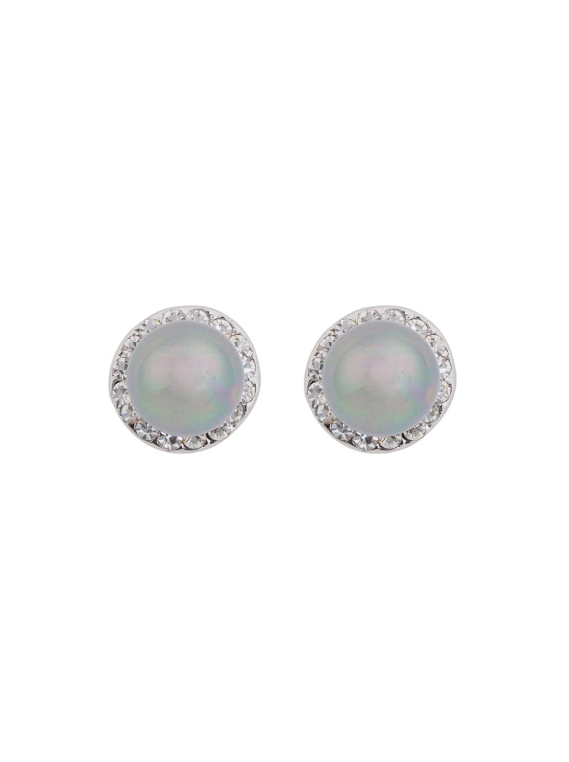 Matisse Silver Crystal and White Pearl Earrings
