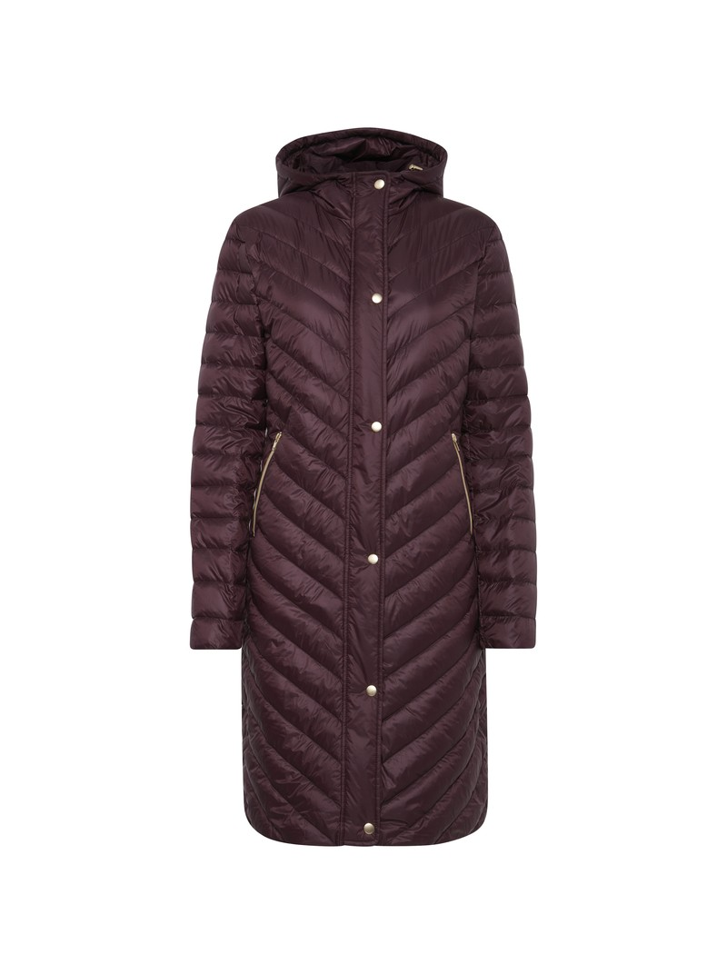 Elsa wine long duck down jacket from byoung