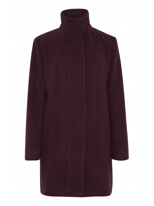 Abbey wine long wool coat from b.young