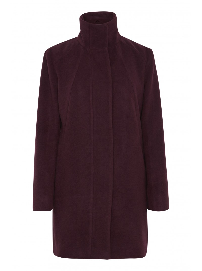 Abbey wine long wool coat by byoung