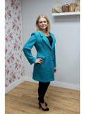 Jacqui Turquoise Coat from Argiddo Spain