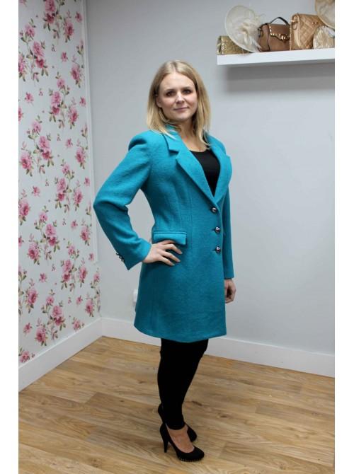 Jacqui Turquoise Coat from Argiddo Spain
