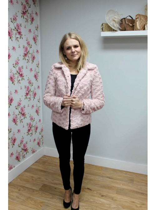 Jasmine Pink Soft Faux Fur Jacket from Argiddo Spain