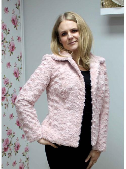Jasmine Pink Soft Faux Fur Jacket from Argiddo Spain