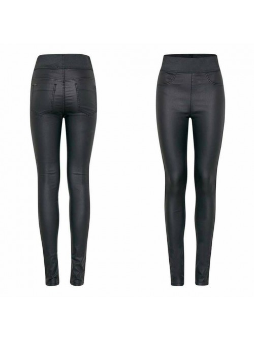 Jessie black wetlook skinny jeggings by Byoung