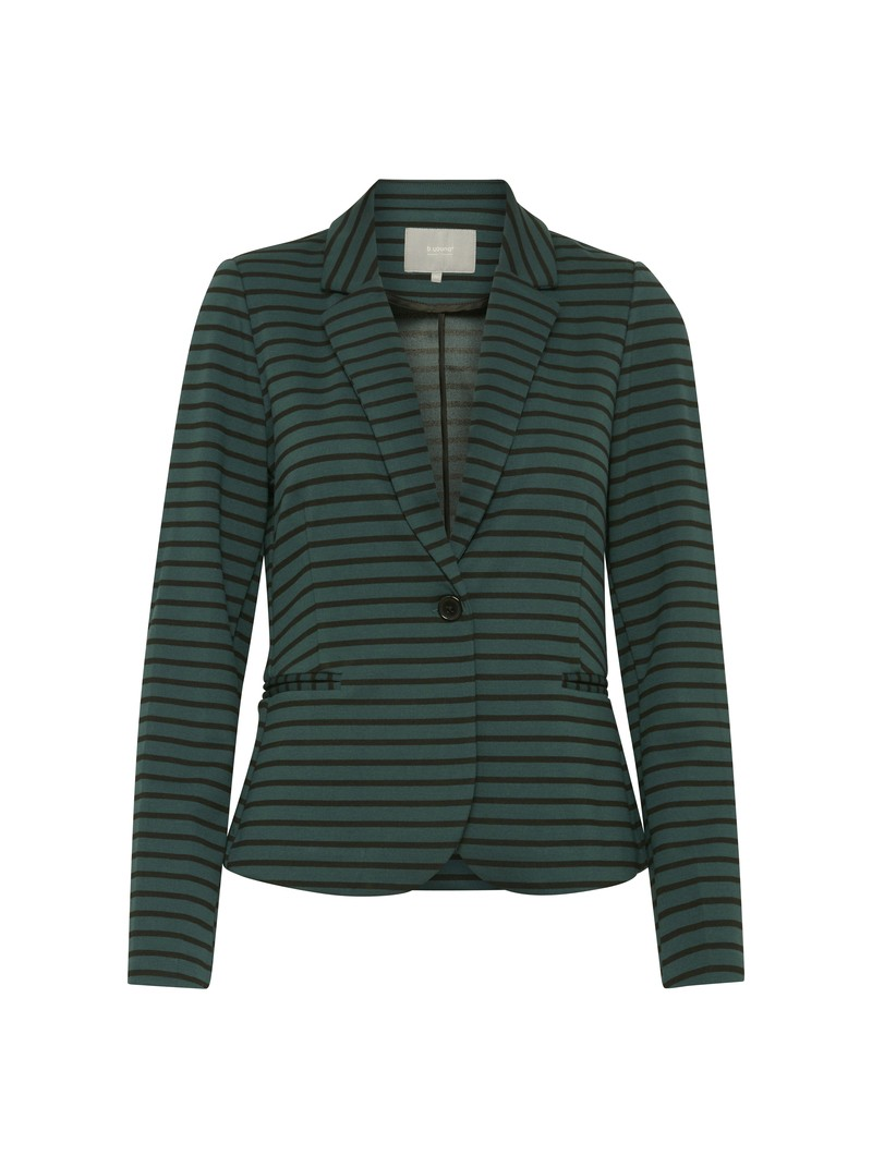 Elaine Striped green Blazer jacket from bYoung