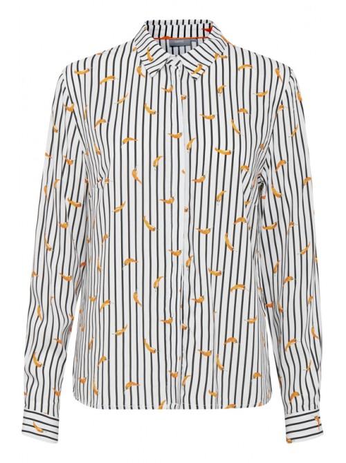 Carmen Black & White Chilli Print Byoung shirt