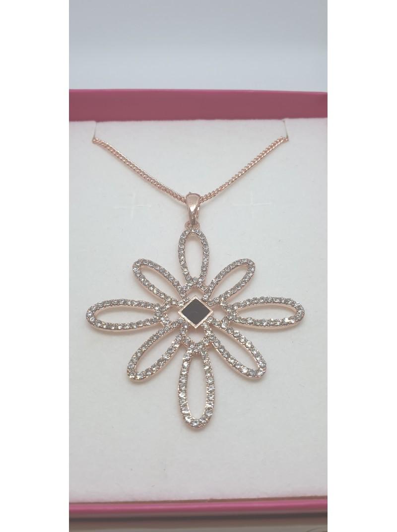 Matisse Diamonte Flower necklace