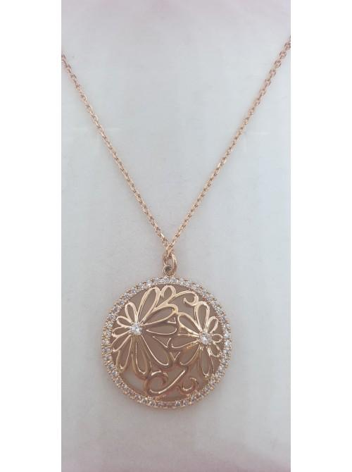 Matisse Rosegold Diamonte Pendant
