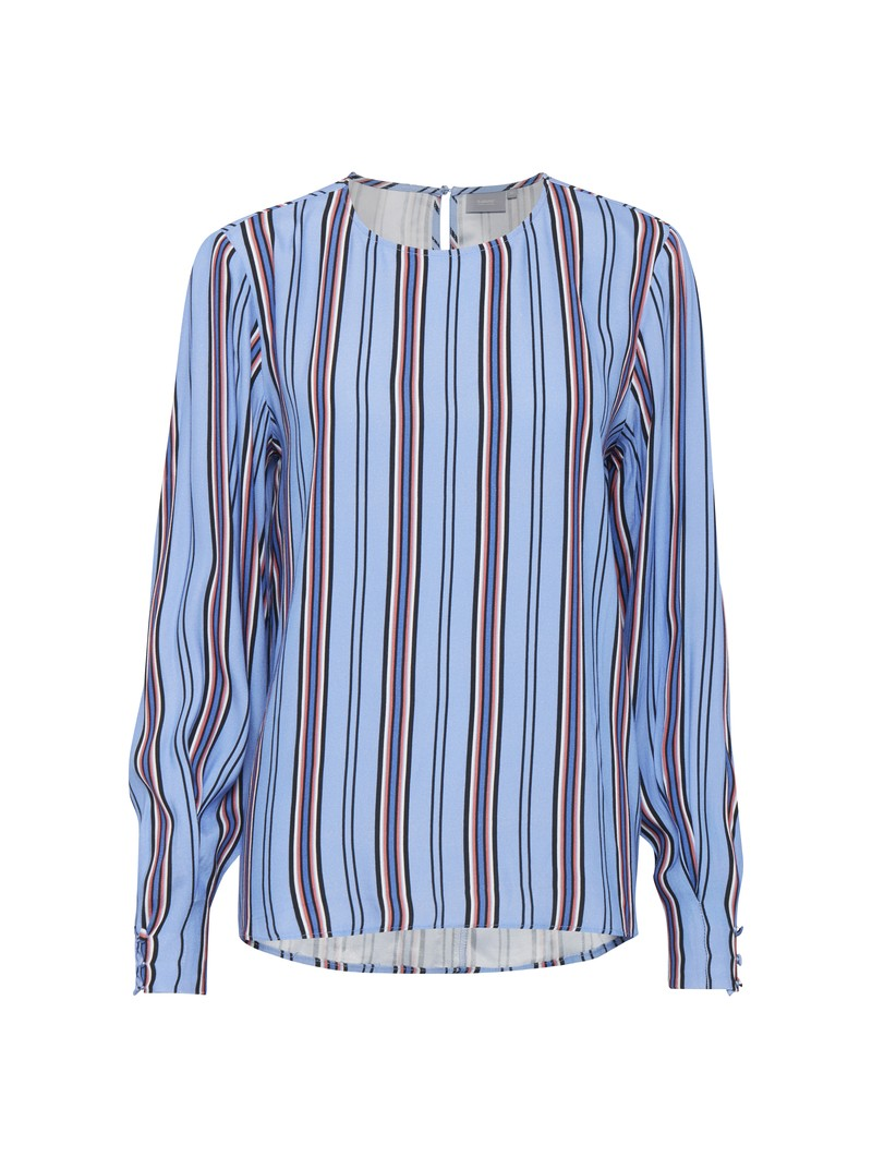 Lara Cornflower blue striped top from Byoung