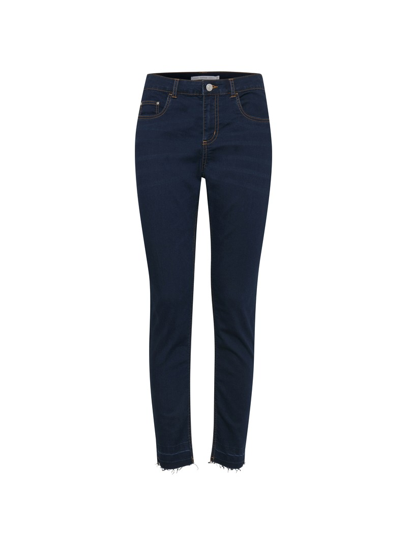 Ann Marie Lola Lika cut hem dark blue denim slim fit jeans by Byoung