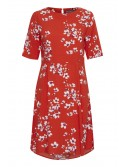 Zara Red Cherry blossom print byoung dress