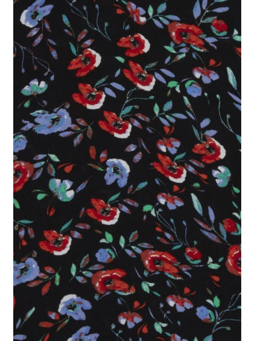 Kerrie black and red floral blossom print byoung casual dress