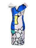 Nadia abstract print statement Arggido Dress