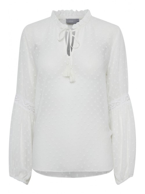 Lily off white chiffon blouse