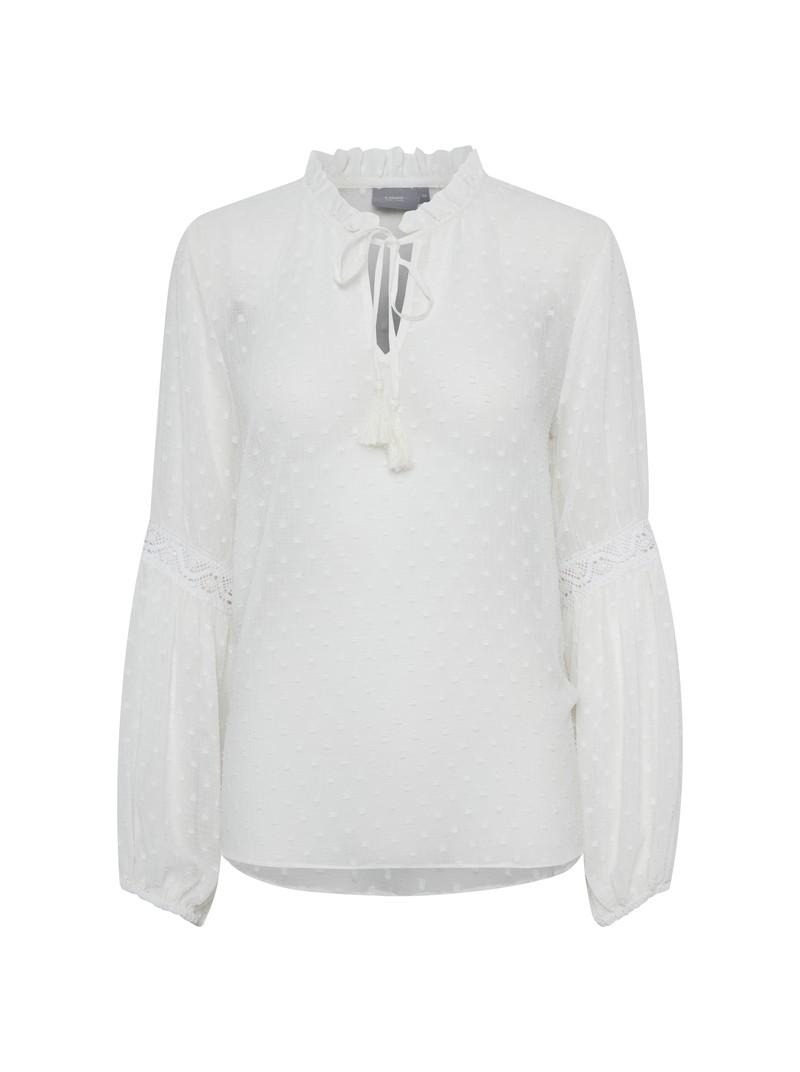 Lily off white chiffon blouse