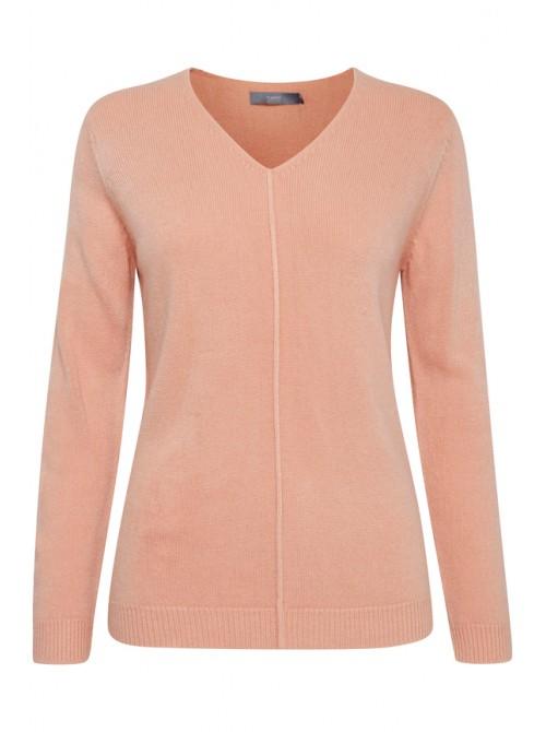 Kayla B.young Warm Rose Pink V neck jumper