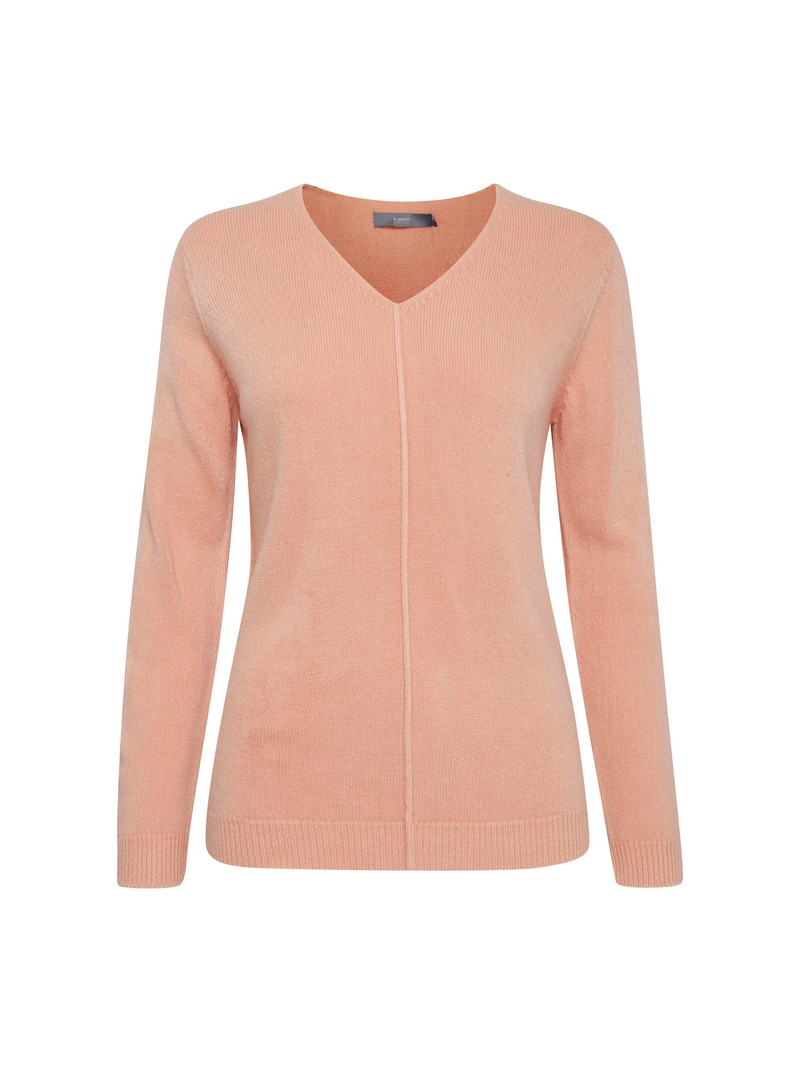 Kayla Warm Rose Pink V neck jumper from Byoung