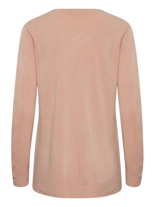 Kayla Warm Rose Pink V neck jumper from Byoung