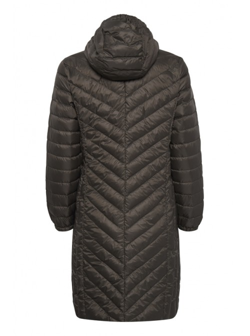 Mia grey long jacket with hood from byoung