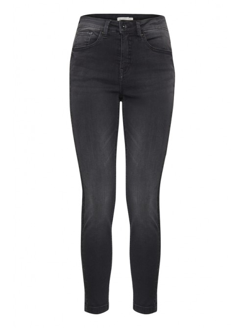 Rita faded black skinny jeans with sparkly side stripe detail by Byoung