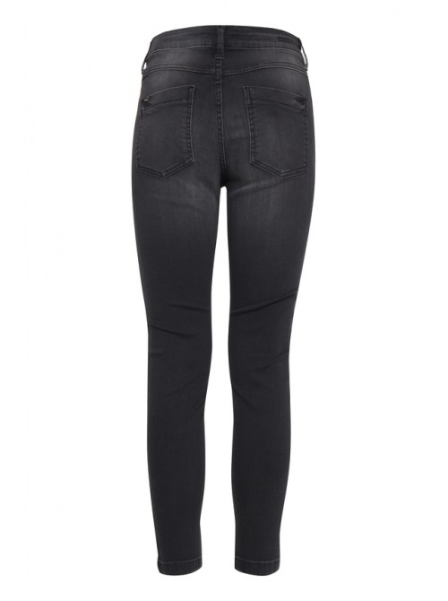 Rita faded black skinny jeans with sparkly side stripe detail Byoung