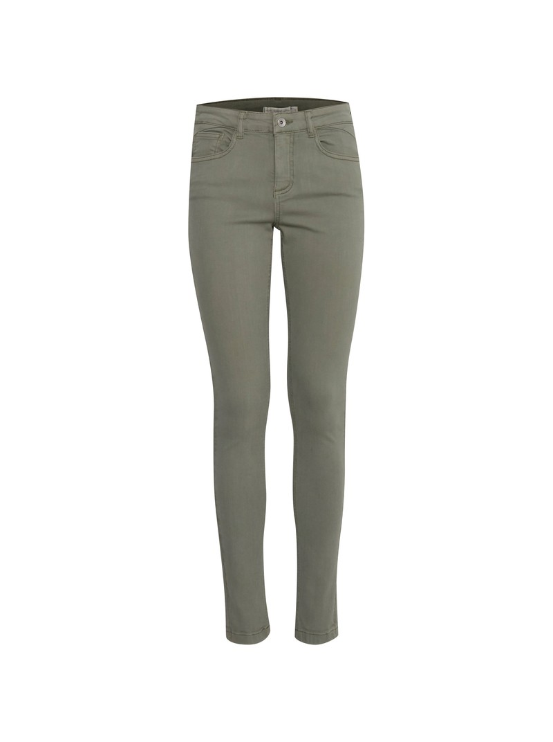 Zoe Olive Green Skinny Jeans by B.young