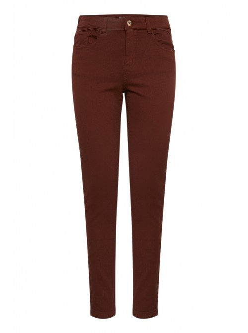 Zoe Carnelian Red Wine skinny jeans by Byoung