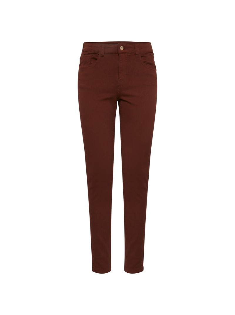 Zoe Carnelian Brown skinny jeans by Byoung
