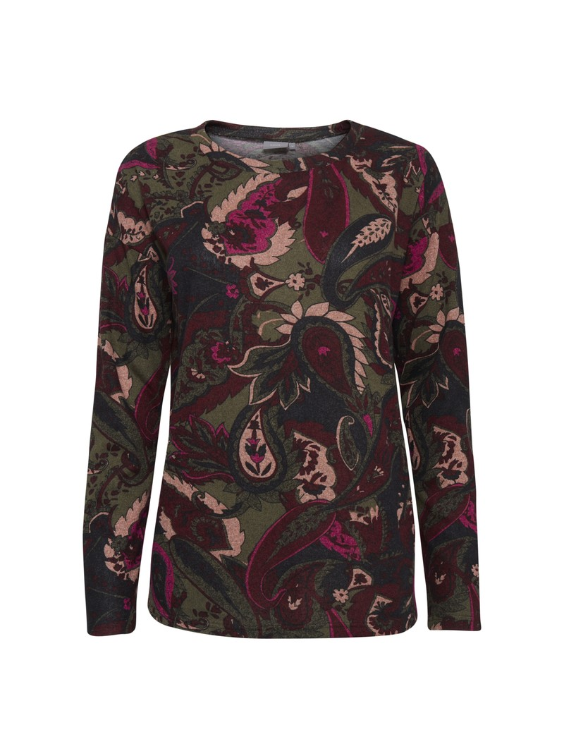 Millie byoung paisley print soft wool jumper top