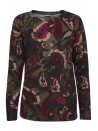 Millie byoung green wine and pink paisley print soft wool jumper top