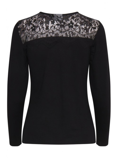 Erin lace black Byoung long sleeve top