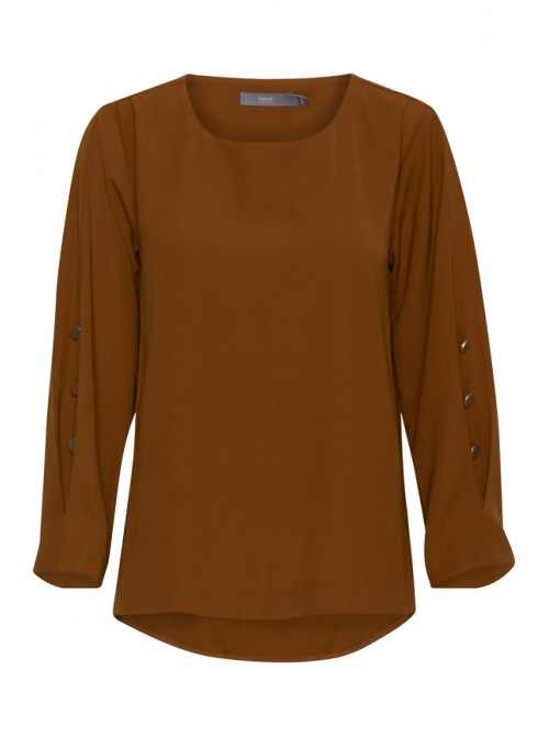Chloe b.young caramel brown blouse