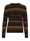 Lucy Black Brown Striped Jumper by B.young