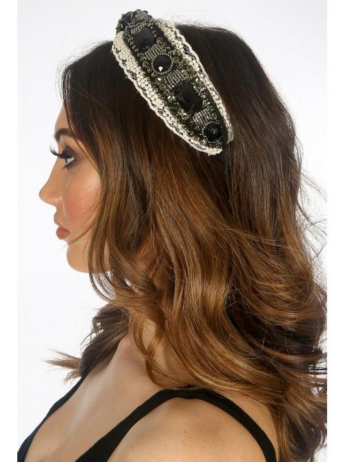 Lace Black Stone Hair Band