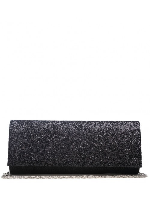 Black Glitzy Clutch Handbag