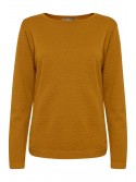 Sophia Golden Oak/Mustard Pattern Jumper