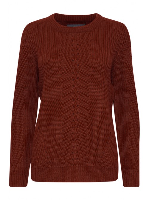 Brigitte B.young Dark copper brown pattern jumper
