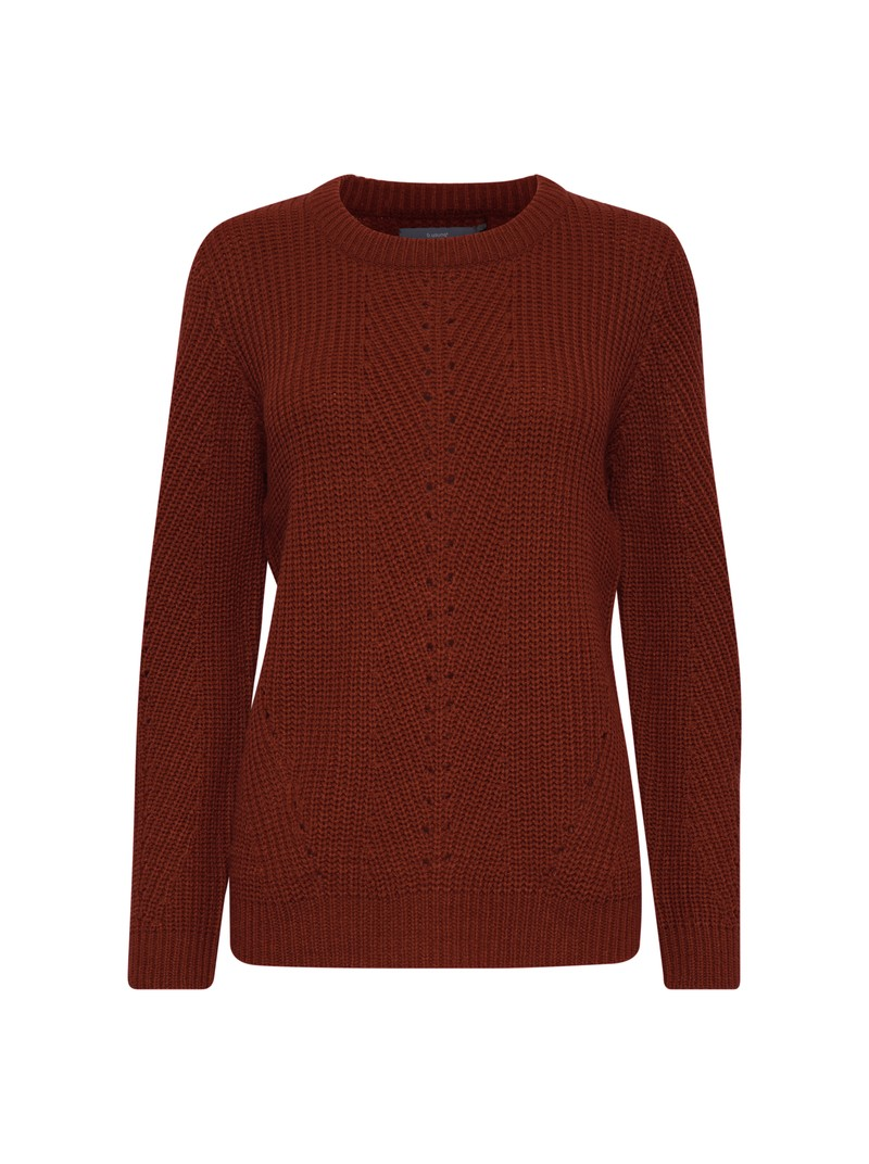 Brigitte Dark copper brown pattern jumper