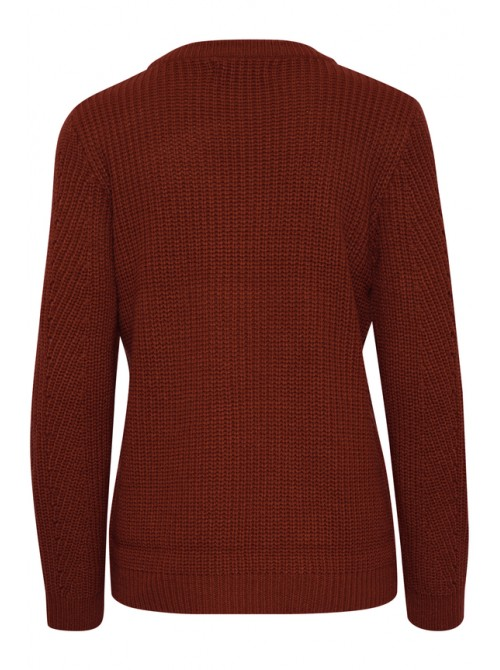 Brigitte Dark copper brown pattern jumper