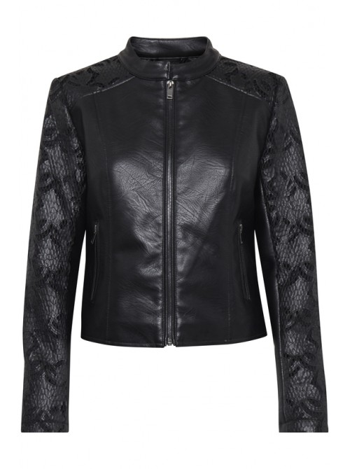 Joan Black Biker Jacket by B.young