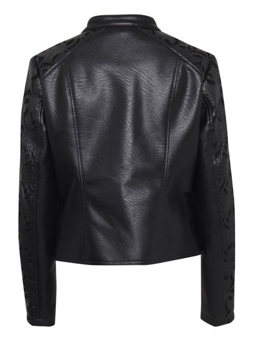 Joan Black Biker Jacket by B.young