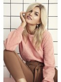 Olivia B.young Salmon Pink O neck jumper