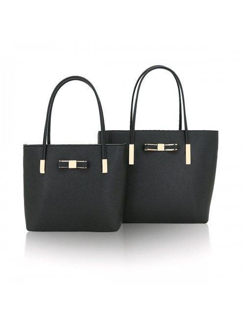 Clara handbag with bow detail tote bag in Black