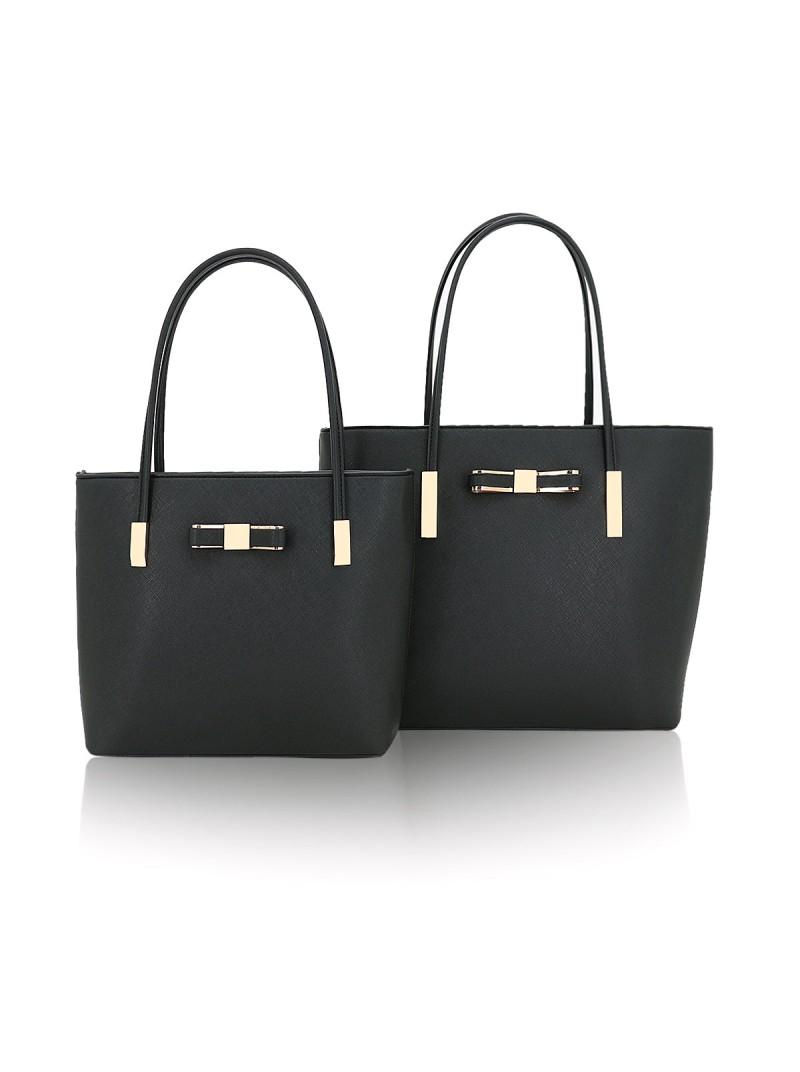 Clara handbag with bow detail tote bag in Black